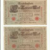 Germania 1000 MARK (marci ) 1910 - SET 2 bucati