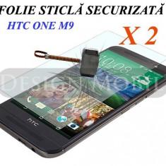 2X FOLIE DE STICLA HTC ONE M9 TEMPERED GLASS SUPER OFERTA (2 BUC) - Folie de protectie