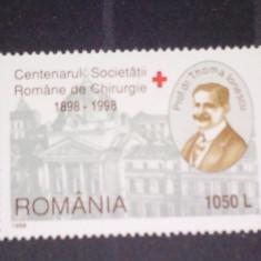 Romania 1998-LP-1453-Centenarul societatii romane de chirurgie, nestampilate. - Timbre Romania