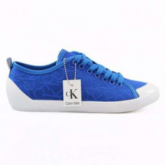 Tenisi Calvin Klein Giselle pentru barbati Adidasi din panza ck 40, 41, 42, 43, 44 - Tenisi barbati Calvin Klein, Culoare: Albastru, Textil