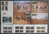 NAMIBIA 1991 - ZEBRE 4 VALORI IN BLOC NEOBL.,1 FDC SI 4 I.M. OBLIT. - AS 087C