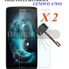 2X FOLIE DE STICLA LENOVO A7010 K4 NOTE/VIBE X3 LITE TEMPERED GLASS 2 BUC - Folie de protectie