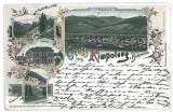 457 - L i t h o, Bucovina, Suceava, CAMPULUNG - old postcard - used - 1898, Circulata, Printata