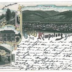 457 - L i t h o, Bucovina, Suceava, CAMPULUNG - old postcard - used - 1898 - Carte Postala Bucovina pana la 1904, Circulata, Printata