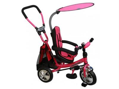 Tricicleta Copii Cu Scaun Reversibil Baby Mix Safari Ws611 Pink foto