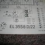 schema electica originala magnetofon Philips EL3558/D22