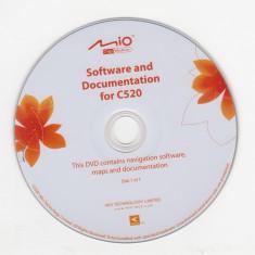GPS-CD instalare-actualizare hărţi pentru Navigator GPS MIO c520 (2007) - Software GPS