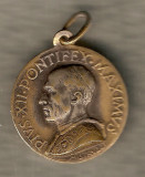 PAPA PIUS XII PONTIFEX MAXIMUS VECHI MEDALION RELIGIOS