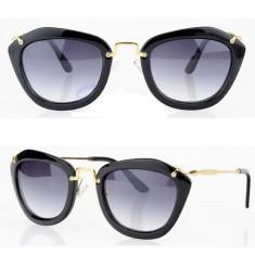 Ochelari soare RETRO DESIGN FASHION material plastic detaliu auriu, Femei