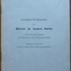 Henri Focillon , Expozitia Jacques Martin , 1926 , autograf catre George Oprescu