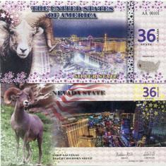 STATELE UNITE ALE AMERICII(NEVADA)- 36 DOLLARS 2016- UNC!! - bancnota america