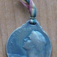 Medalie comemorativa, Unirea, 1918 - 1928, Regina Maria - Medalii Romania