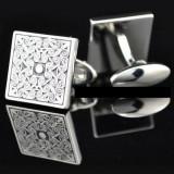 Butoni noi stil elegant Antique Mood argintii + cutie simpla cadou