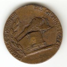 TRENURI LOCOMOTIVE CAI FERATE TRANSPORTURI FRANTA MEDALIE DE ONOARE 1977
