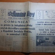 """Ziarul romania libera 16 iulie 1972 art. """"oameni care fac"""" de adrian paunescu"""