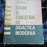 Studii si cercetari de didactica moderna - Carte Psihologie