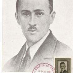 @ ilustrata maxima-PAVEL TCACENCO-25 de ani de la moarte, Europa, An: 1951, Oameni