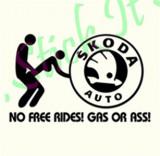No Free Rides-Skoda_Tuning Auto_Cod: 1A8-018_Dim: 15 cm. x 9.4 cm.