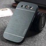 Husa pelicula aluminiu greu gri inchis Samsung Galaxy S3 i9300, Universala, Auriu, Metal / Aluminiu