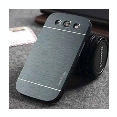 Husa pelicula aluminiu MOTOMO greu gri inchis Samsung Galaxy S3 i9300 - Husa Telefon Samsung, Universala, Auriu, Metal / Aluminiu, Carcasa