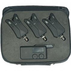 Set Avertizor Jaxon Cu Centrala Xtr Sensitive 3 Posturi - Avertizor pescuit, Electronice