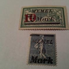 Germania/memel 1923 blazoane/ 10 euro, Nestampilat