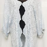 Kimono bleu deschis cu broderie, Marime: Marime universala, Culoare: Din imagine