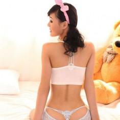 GS695-24 Chilot normal sexy cu decupaj si model brodat la spate - Chiloti dama, Marime: S