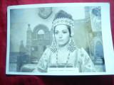 Fotografie din Filmul Stefan cel Mare cu Violeta Andrei , dim.= 18 x 12 cm