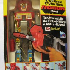 Robot transformer in arma pusca 1984 in cutia originala - Roboti de jucarie, 6-8 ani, Plastic, Unisex