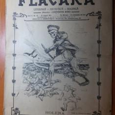 """revista flacara 24 august 1913-poezia""""veteranul"""" pt M.S regele carol 1 de oreste"""