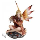Statuetă zână și dragon Protectoarea puiului - Sculptura