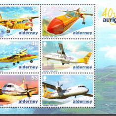 Alderney 2008, Aviatie, serie neuzata, MNH - Timbre straine, Nestampilat