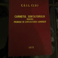 Caietul sortatorului pentru produse de exploatarea lemnului - 1971 - Carte personalizata