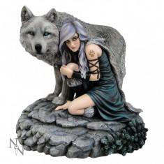 Statuetă Lupul Protector - Sculptura