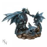 Statuetă dragon cu pui Cuibul dragonilor - Sculptura