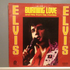 ELVIS PRESLEY - BURNING LOVE and hits from his movie (1972/RCA REC /USA) - Vinil - Muzica Rock & Roll rca records