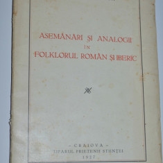 Asemanari si analogii in folclorul roman si iberic - Al. Popescu Telega - 1927 - Carte traditii populare