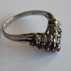 Inel de argint cu zirconii - 276 - Inel argint