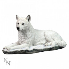 Statuetă lup alb Umbra albă - Sculptura