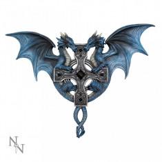 Plachetă decorativă pentru perete Dragon Duo
