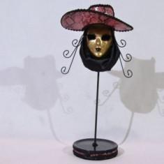 Suport pentru bijuterii in forma de masca (culoare: roz)