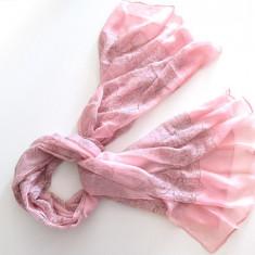 Pareo/esarfa roz cu imprimeu gri - Esarfa, Sal Dama