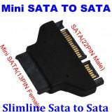 Adaptor Slimline SATA 13 pini mama la SATA 22 pini tata