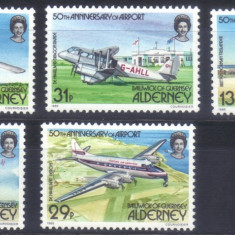 Alderney 1985, Aviatie, serie neuzata, MNH - Timbre straine, Nestampilat