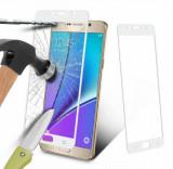 Folie colorata din sticla securizata pt Samsung Galaxy Note 5 - ALB