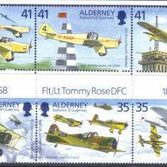 Alderney 1995, Aviatie, serie neuzata, MNH - Timbre straine, Nestampilat