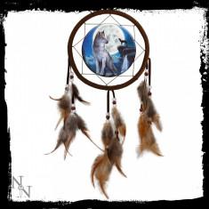Dreamcatcher lupi Luna albastră