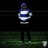 Hanorac in dungi PGwear Stripes Blue&White ultras casuals hooligans, XL, Albastru