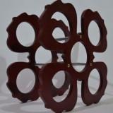 Suport sticle vin - floare - Suport sticla vin